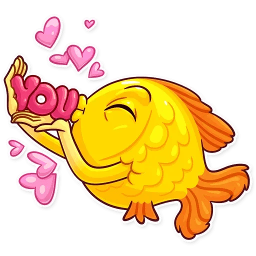 Gold Fish - Sticker 2