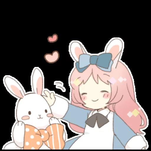 Rabbit Ear Girl Rosy - Sticker 13