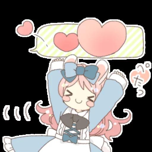 Rabbit Ear Girl Rosy - Sticker 20