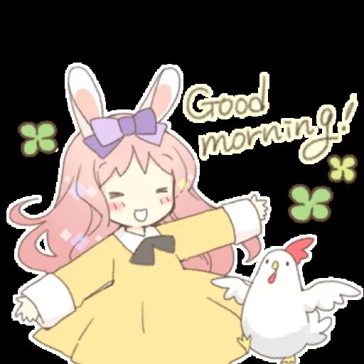 Rabbit Ear Girl Rosy - Sticker 30
