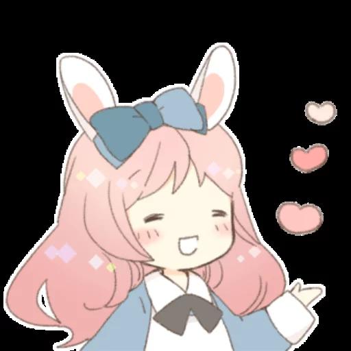Rabbit Ear Girl Rosy - Sticker 8