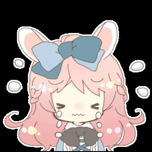 Rabbit Ear Girl Rosy - Sticker 23