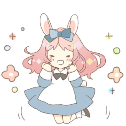 Rabbit Ear Girl Rosy - Sticker 6