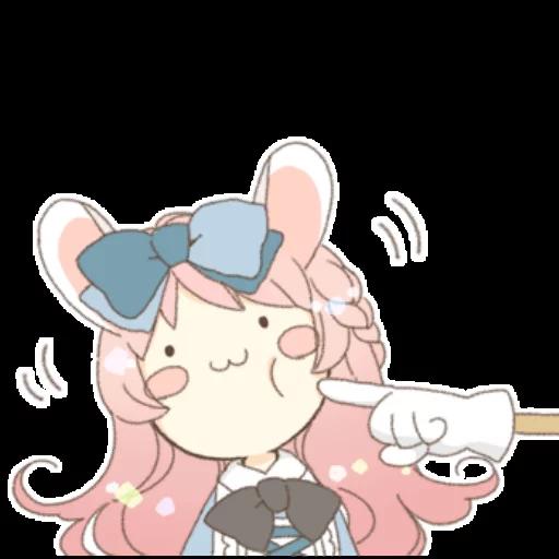 Rabbit Ear Girl Rosy - Sticker 26