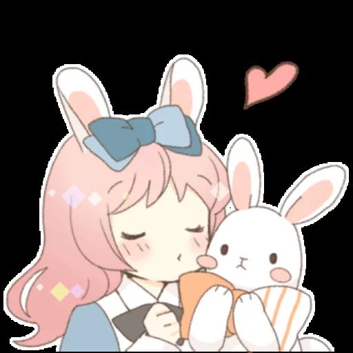 Rabbit Ear Girl Rosy - Sticker 10