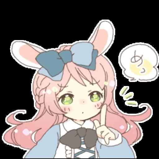 Rabbit Ear Girl Rosy - Sticker 25