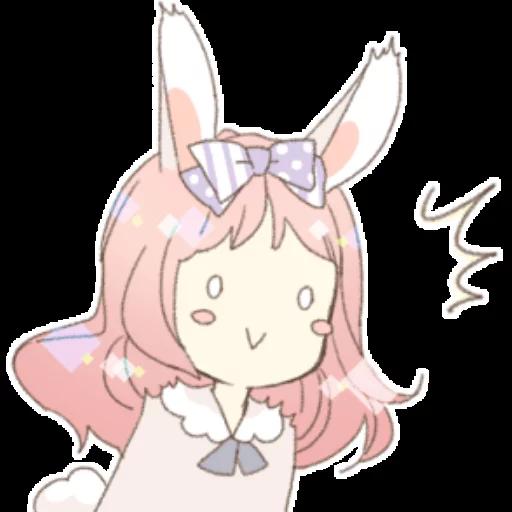 Rabbit Ear Girl Rosy - Sticker 17