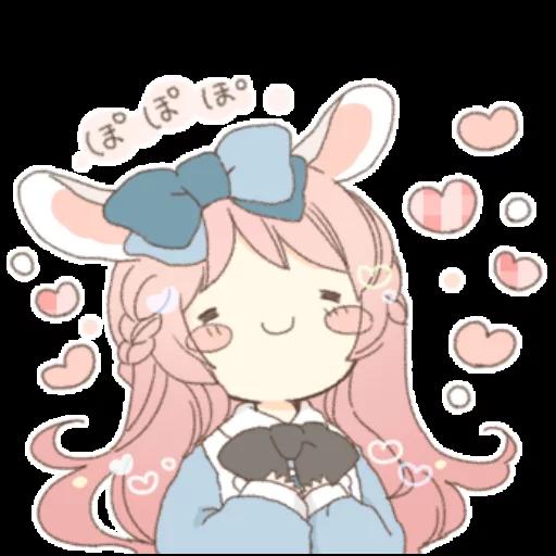 Rabbit Ear Girl Rosy - Sticker 24