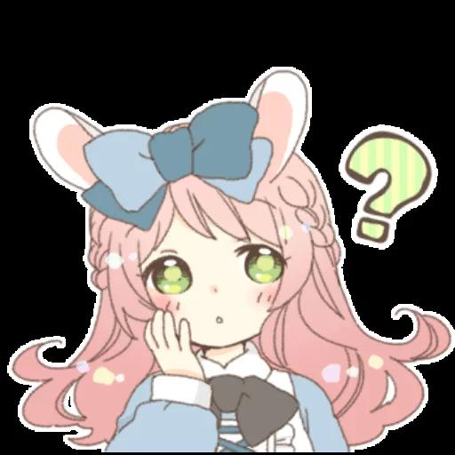 Rabbit Ear Girl Rosy - Sticker 21