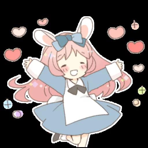 Rabbit Ear Girl Rosy - Sticker 9