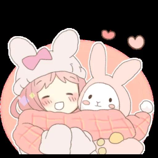 Rabbit Ear Girl Rosy - Sticker 29