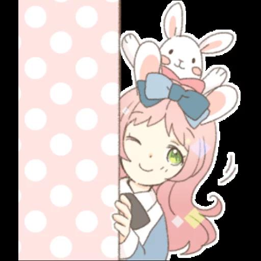 Rabbit Ear Girl Rosy - Sticker 5
