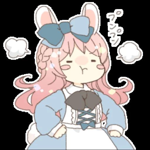 Rabbit Ear Girl Rosy - Sticker 28