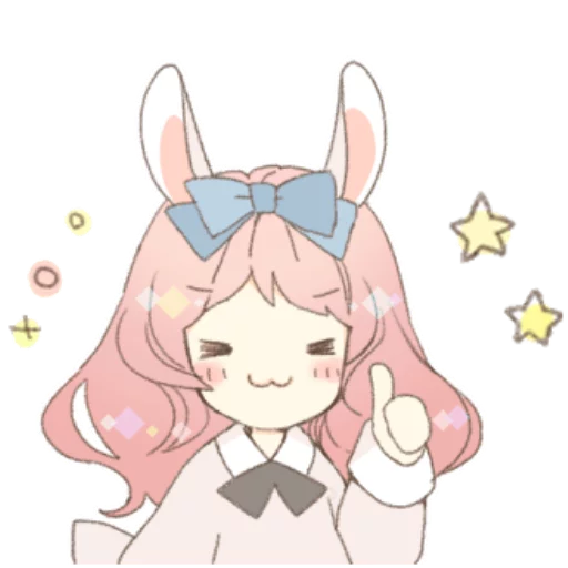 Rabbit Ear Girl Rosy - Sticker 7