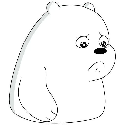 Ice Bear - Tray Sticker
