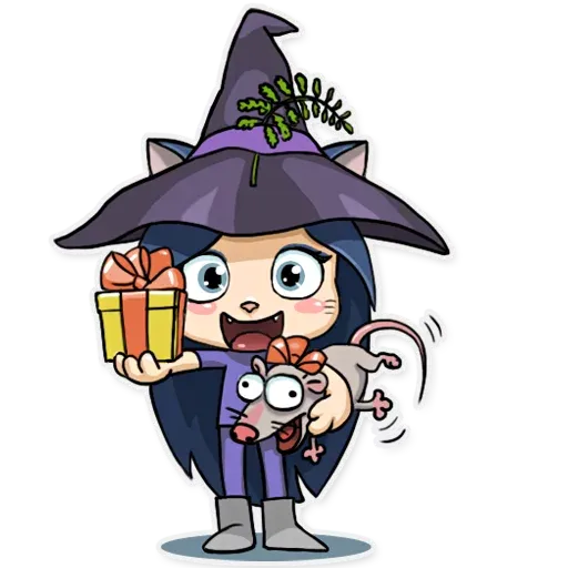 Kitty The Witch - Sticker 7