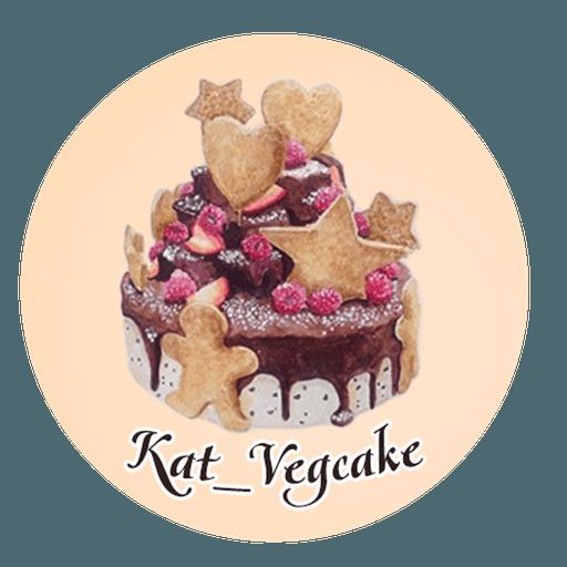 KatVegcake - Tray Sticker