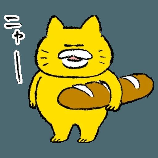 黃色肥喵喵 - Sticker 1