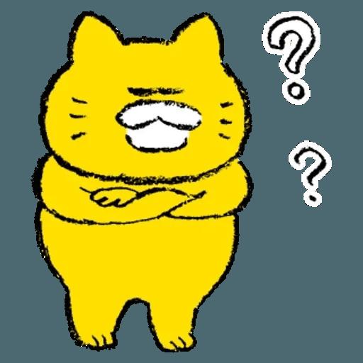 黃色肥喵喵 - Sticker 5