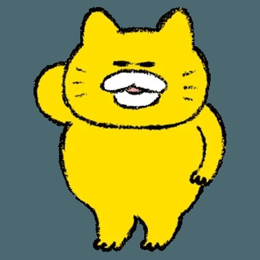 黃色肥喵喵 - Sticker 2