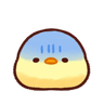 soft and cute chick 13 - Tray Sticker
