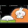 Spoiled rabbit 🐰  - Tray Sticker