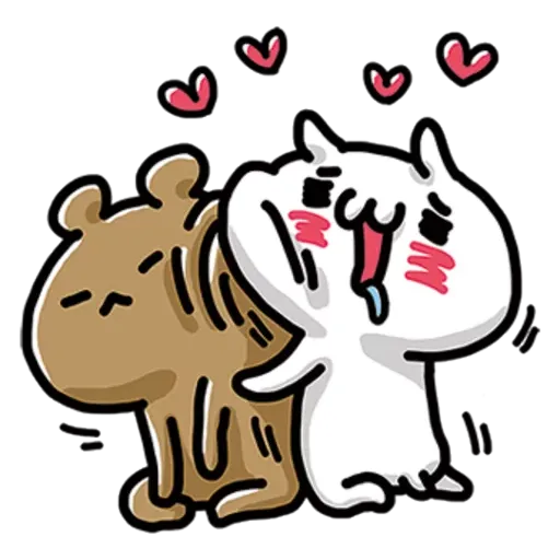 Cat love - Sticker 1