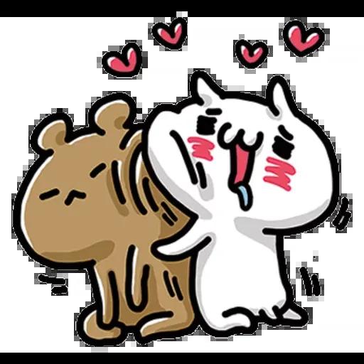 Cat love - Tray Sticker
