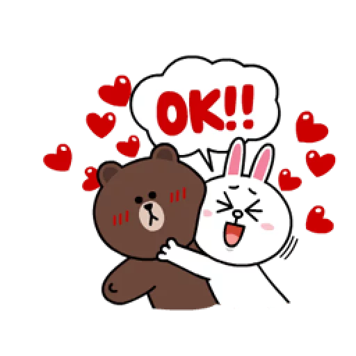Brown & Cony - Sticker 8