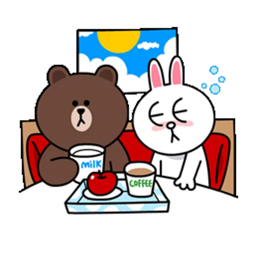 Brown & Cony - Sticker 19