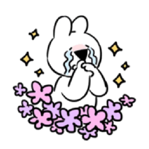 Extremely rabbit - burst of passion - Tray Sticker