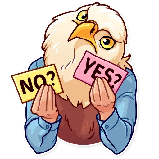 Birds with Arms - Sticker 26