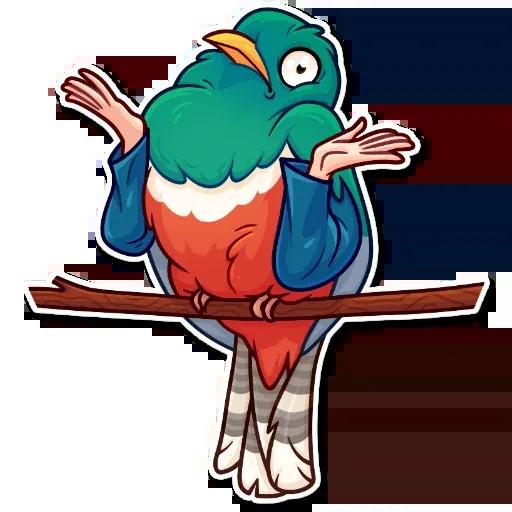 Birds with Arms - Sticker 7