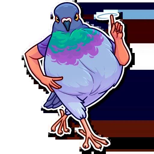 Birds with Arms - Sticker 9