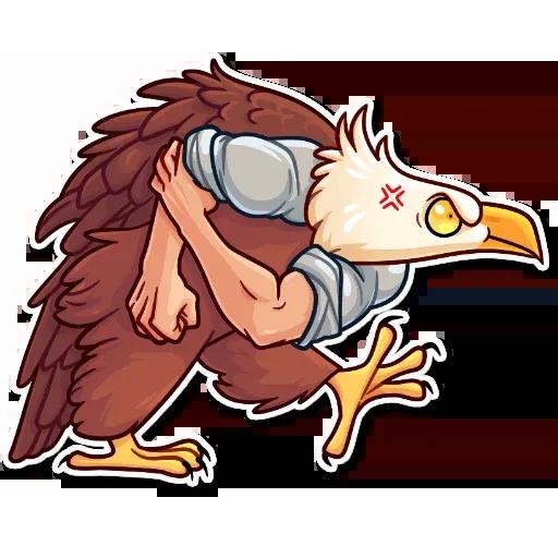 Birds with Arms - Sticker 29
