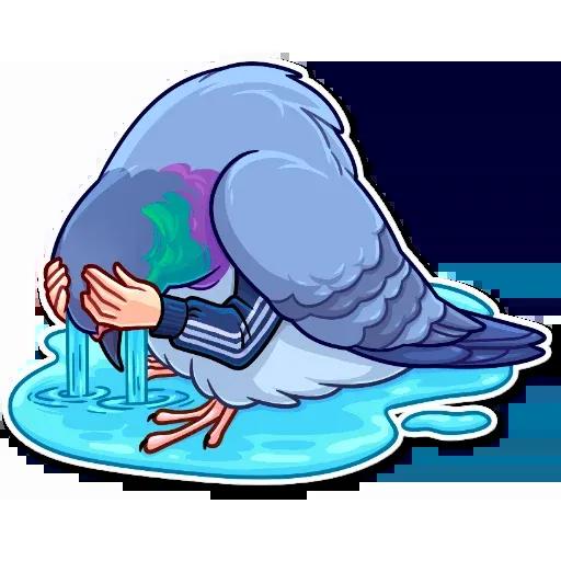 Birds with Arms - Sticker 13