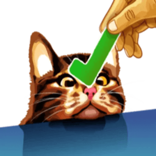 MemeTheCat - Tray Sticker