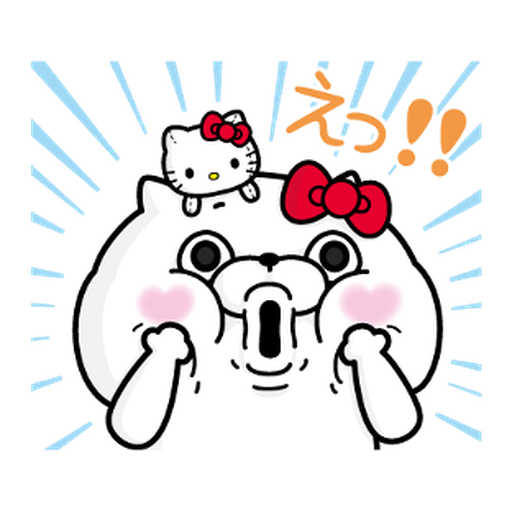 YOSISTAMP-兔兔100%過激貼圖 2 + SANRIO CHARACTERS - Sticker 22