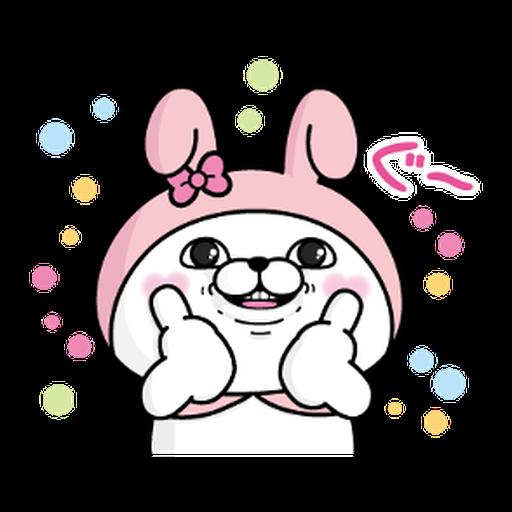 YOSISTAMP-兔兔100%過激貼圖 2 + SANRIO CHARACTERS - Sticker 17