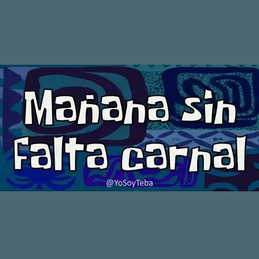Frases Bob Esponja Español - Sticker 8