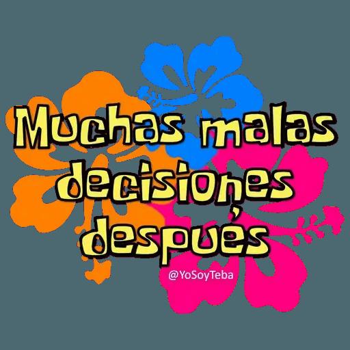 Frases Bob Esponja Español - Sticker 30