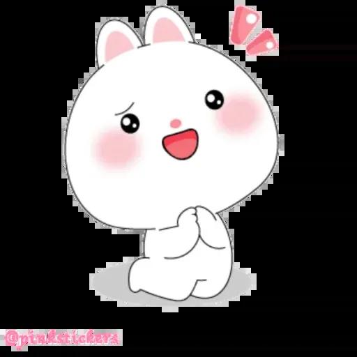 Cute rabbit - Sticker 5