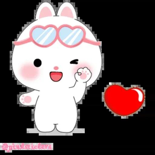 Cute rabbit - Sticker 25