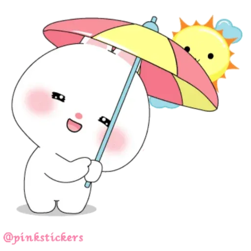 Cute rabbit - Sticker 3