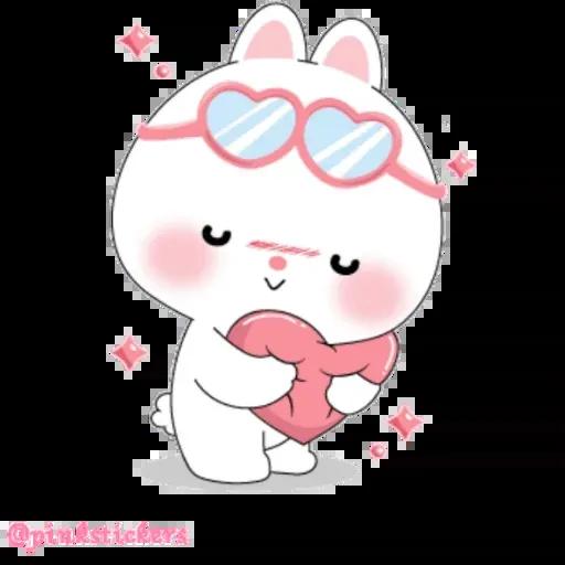 Cute rabbit - Sticker 4