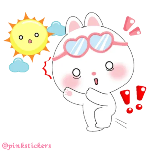 Cute rabbit - Sticker 27