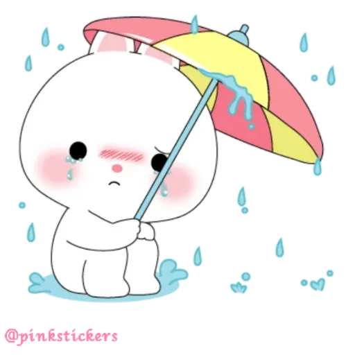 Cute rabbit - Sticker 13
