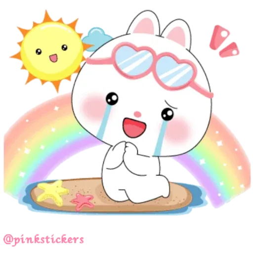Cute rabbit - Sticker 2