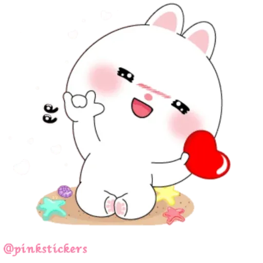 Cute rabbit - Sticker 24