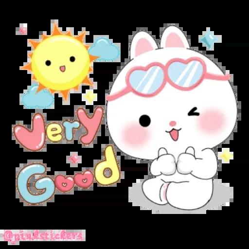 Cute rabbit - Sticker 10